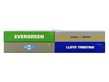 SLEVA! TT - Set 4 ks  40' kontejnerů / HobbyTrain H70500