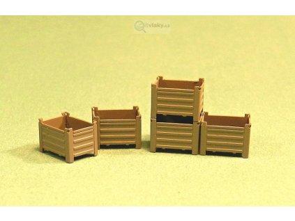 H0 - Kovové bedny MARS (lept) / Miniatur MHL 14