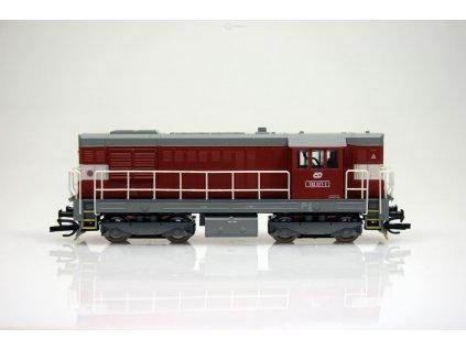 TT - dieselová lokomotiva 742-017 ČD KOCOUR / MTB 742-017