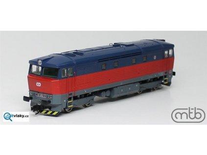 vyprodáno! TT - lokomotiva ř. 751 052, BARDOTKA modro- červená  ČD / MTB