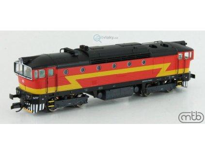 ARCHIV TT - dieselová lokomotiva 754 049 BREJLOVEC ANALOG/DCC/ZVUK / MTB 754.049