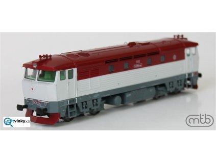 H0 - lokomotiva T478.1168 ČSD Bardotka, červeno-krémová / MTB