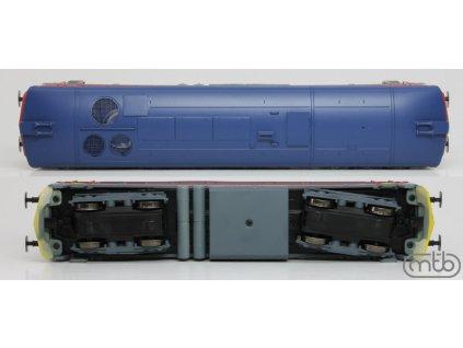 H0 - lokomotiva 749 019 ČD Bardotka, červeno-modrá / MTB H0751-019