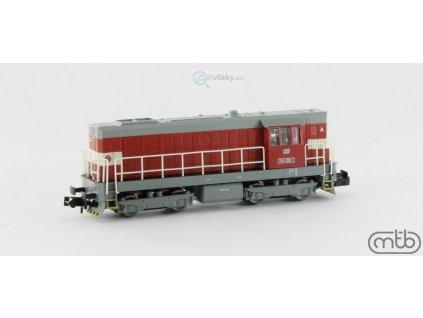 ARCHIV N - dieselová lokomotiva 742 058 ČD KOCOUR / MTBN742058