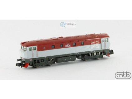 N - lokomotiva Bardotka T478 1151, ČSD / MTB 4781151