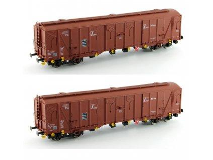 """H0 - set dvou nákladních vozů Hadgs """"Zrniny"""", ČD Cargo / MTB"""