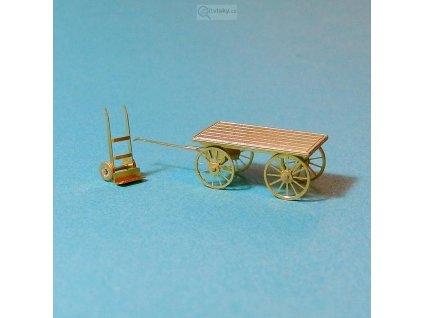 TT - Nádražní vozík a rudl (lept) / Miniatur MTL 27