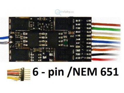 H0 dekodér ZIMO 632F pro NEM651/ 28 x 15,5 x 4mm