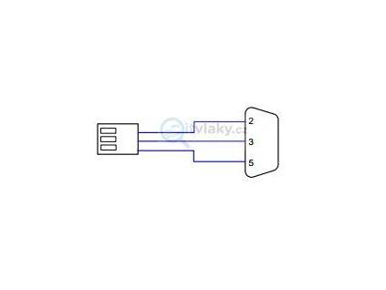 Konfigurační propojovací kabel do PC ( RS232-3 pin) pro  PR3B, ND4/ NE 905