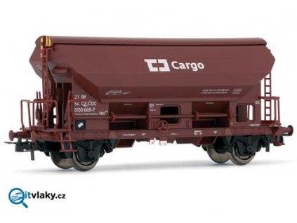 H0 - výsypný nákladní vůz s posunovací střechou, ČD Cargo / Rivarossi 6128