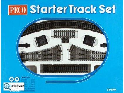 H0 - startovní set kolejiva SETRACK 2,5mm, CODE 100 / PECO ST-100
