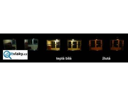H0 - osvětlení vozů B, Bc, BDs - Y light DCC W  - bílá / dekodér / STE 051W