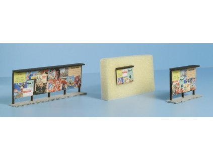 TT - Dřevěné plakátovací plochy tm. hnědé - set / Veramo 070103