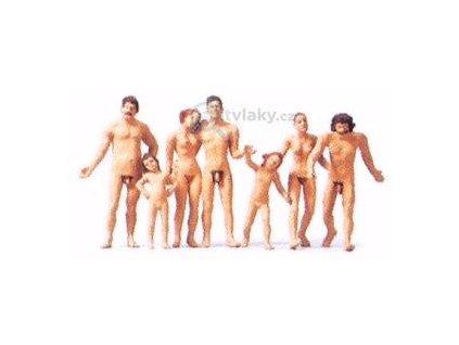 TT - Rodina na nudistické pláži FKK / Merten 0282533