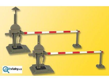 H0 - závory - automatický železniční přejezd se závorami / Viessmann 5100