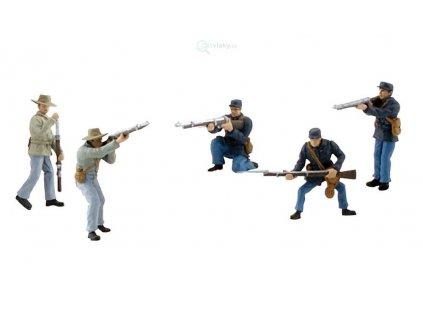 Figurky - vojáci z americké občanské války, 5ks 25-38 mm  /  Woodland Scenics SP 4445