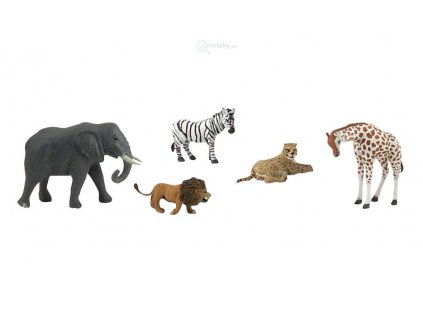 Figurky - africká zvířata, 5ks / Woodland Scenics SP4446