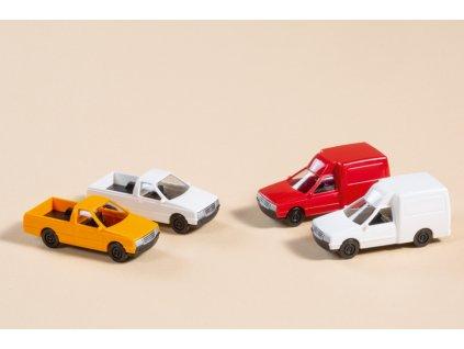 TT - Užitková vozidla 4 ks pick-up / Auhagen 43660