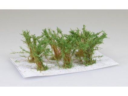 Střední keře - mikro listí - zelená osiková/ Polák model 9351