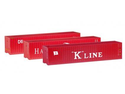 TT - set 3 ks kontejnerů Hamburg Süd, K-Line und CAI / Herpa 066730
