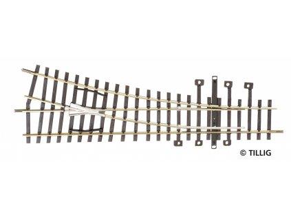 H0 - EW 15° výhybka 15° pravá, délka 185mm / Tillig 82321