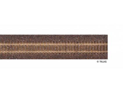 H0 - Štěrkové podloží 950 mm tmavé / Tillig 86507