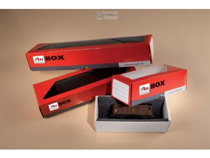 Krabička na modely 10 ks,  150 x 60 x 50 mm, rozložená, Au-box / Auhagen 99301