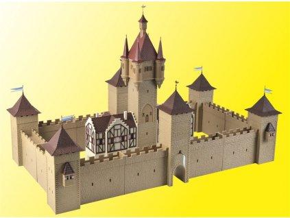 H0 - Středověký hrad s osvětlením LED / Vollmer 49910