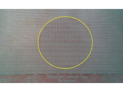 H0 - Cihlová zeď - lícovka křížová vazba 3D / KB model 5927