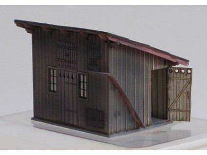 H0 - KkStB vedlejší budova (kůlna) se záchodky 3303 / KB model 5068