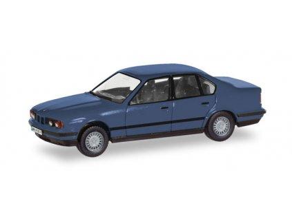 "H0 - BMW 5er Limousine (E34) ""Herpa-H-Edition"", modrý / Herpa 028936"