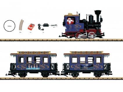 G - Start set - vánoční vlak, kouřící lokomotiva  / LGB 70305