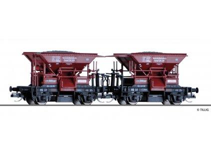 """TT - set dvou výsypných vozů """"Talbot"""" DRG / Tillig 01800"""