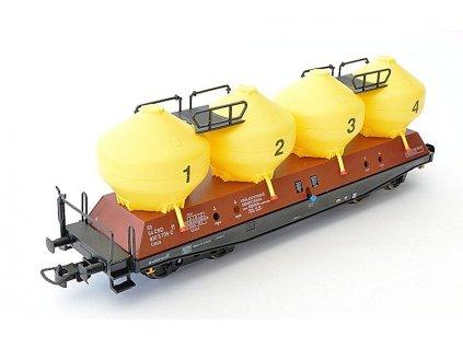 H0 - Jímkový vůz Uacs žluto/hnědý, ČSD / Bramos 3562 07