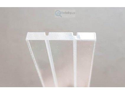 BAZAR! H0 - plastová průhledná kolej délka 0,5m, z vitrín z Domu vláčků v Praze
