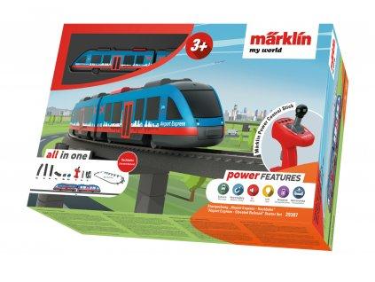 H0 - Dětský start set - Airport Express Hochbahn / Marklin 29307