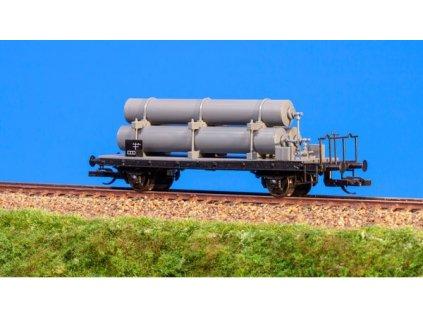 TT - Plošinový vůz s nádržemi pro přepravu plynu / Schirmer 64002