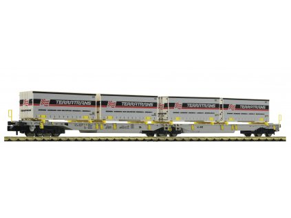 AKCE N - set dvou plošinových vozů T2000 ložený kontejnery, AAE, Ep. VI / Fleischmann 825011
