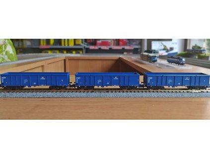 N - 3-dílný set otevřených vozů řady Eaos, PKP, Ep. VI / Fleischmann 852329
