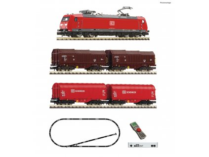 N - z21®start Digitální set: Elektrická lokomotiva BR 185.1 s vozy, DB-AG, Ep. VI / Fleischmann 931885