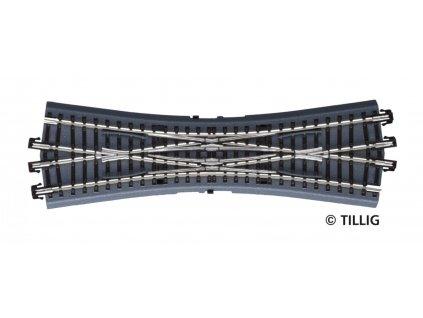 TT - DKW - křižovatková výhybka - dřevěné pražce / TILLIG 83793