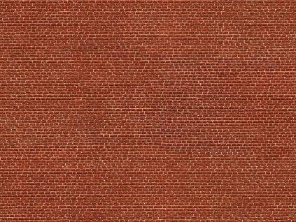 3D zdivo - červené cihly / NOCH 56610