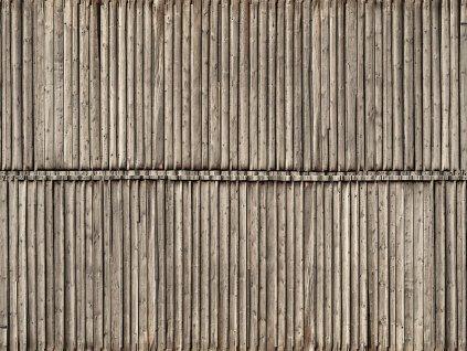 3D zdivo - dřevěná stěna / NOCH 56664