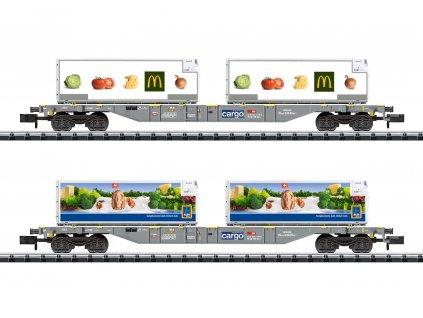 429489 n set dvou kontejnerovych vozu sgns sbb cargo trix 15488