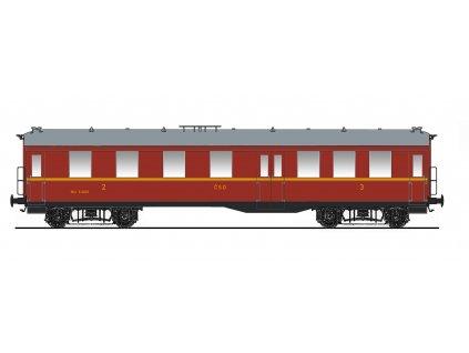 "TT - osobní vůz ""Altenberg"" 2./3. třídy ČSD, ep. III / Saxonia 120016"