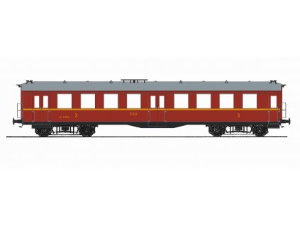 "TT - osobní vůz ""Altenberg"" 3. třídy ČSD, ep. III / Saxonia 120014"