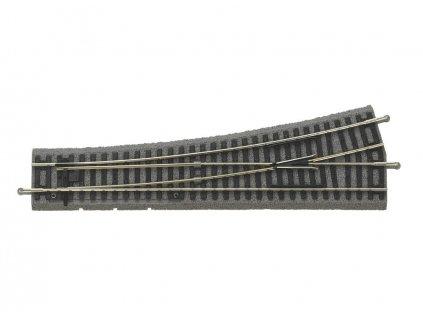 H0 - výhybka levá 239 mm 15° s podložím / PIKO 55420