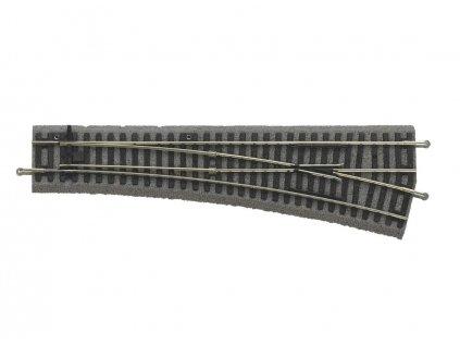 H0 - výhybka pravá 239 mm 15° s podložím / PIKO 55421