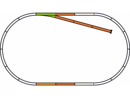 H0 - rozšiřující sada B pro A-Gleis s podložím / PIKO 55311