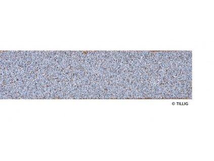 TT - Základní deska 700 mm, světle šedá se štěrkem / Tillig 86412 / STYROSTONE-Gleisbettung
